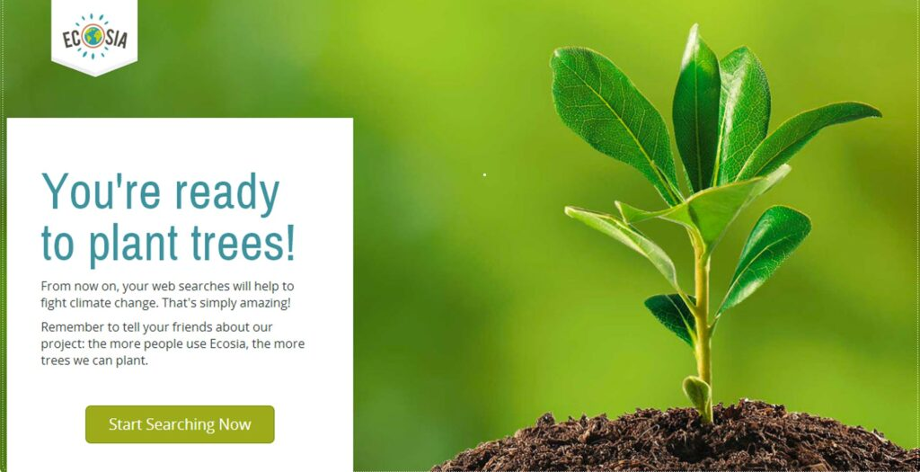 Ecosia pianta alberi